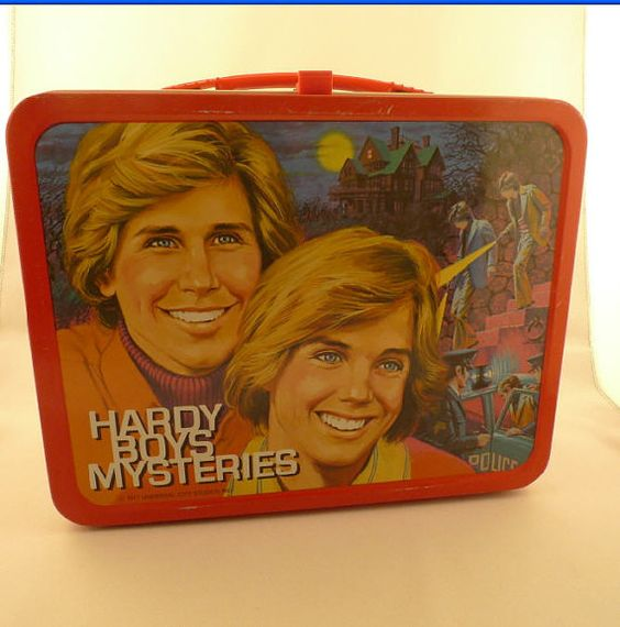 1977 Hardy Boys Mysteries Metal Lunch Box by kitschnswell on Etsy, $65.00