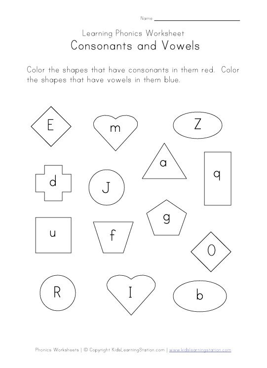 Consonants & Vowels Worksheets UK Eduacation Good Site @ http ...