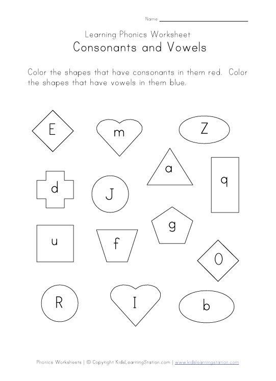 Consonants and Vowels Worksheets UK Eduacation Good Site http – Vowels and Consonants Worksheets for Kindergarten