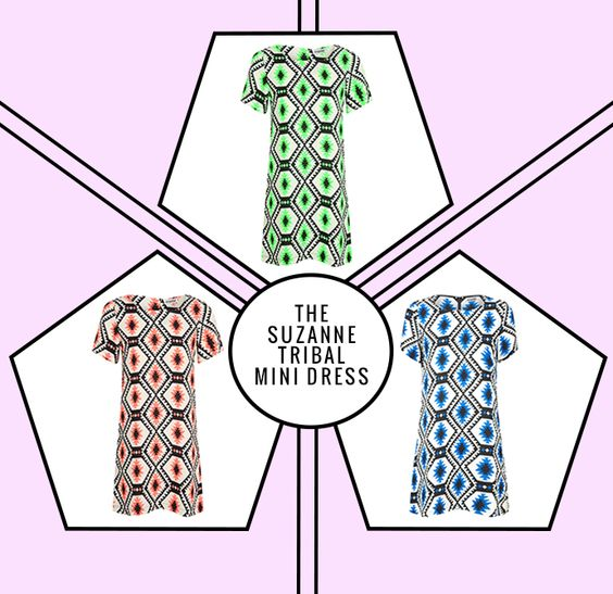 Channel some traveller vibes with the Suzanne Tribal Mini Dress available in coral, green and blue! We are in love with the print on these dresses, it's so good we want all three! X http://www.missguided.co.uk/catalog/product/view/id/78627/s/suzanne-tribal-mini-dress-in-blue/  #missguided #fashion #style #online #tribal #Aztec #dress #print #coral #blue #green #outfit #dress #summer #trend