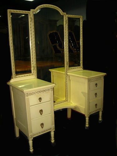 Vintage french country cottage 4 piece bedroom set dresser - Shabby chic bedroom sets for sale ...