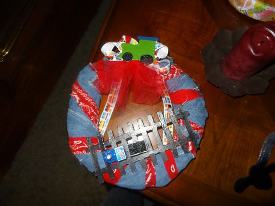Train Themed Wreath by zblount82 on Etsy, $55.00: