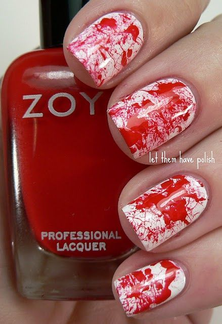 Zoya Sookie and Purity Splatter Mani from Let Them Have Polish