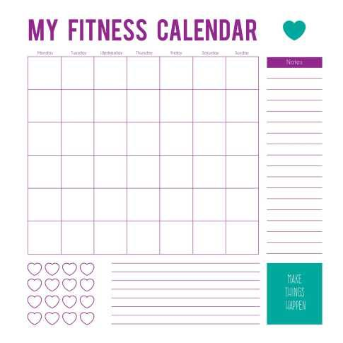 14 Tips To Stay Motivated With Your Fitness Goals For The Year Workout Calendar Workout Template Workout Calendar Printable
