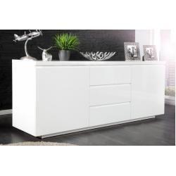 Modernes Design Sideboard X7 190cm Weiss Hochglanz Finish Riess