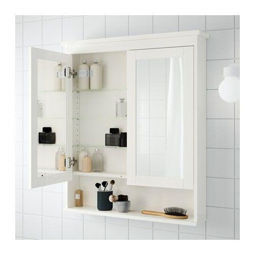 Hemnes Mirror Cabinet With 2 Doors Black Brown Stain 32 5 8x6 1