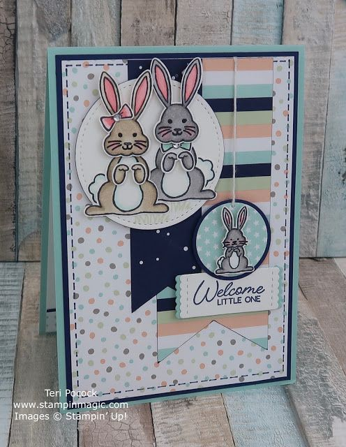 using Stampin Up products Birthday Handmade Greeting Card Hopping By Bunny