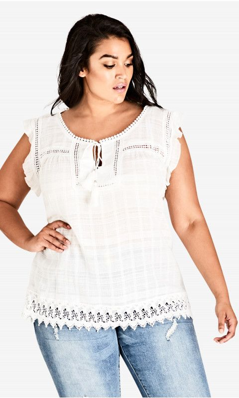 City Chic Womens Apparel Womens Plus Size Top Sweet Fling