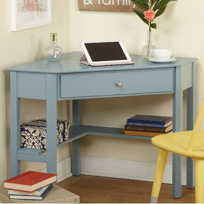 Andover Mills Suri Corner Desk Wayfair Corner Writing Desk Wood Corner Desk Space Saving Desk