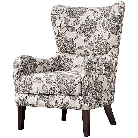 Leda Winged Arm Accent Chair Jcpenney Wingback Chair Wing Chair