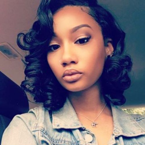 55 Swaggy Bob Hairstyles For Black Women My New Hairstyles Natural Hair Styles Wavy Bob Hairstyles Long Hair Styles
