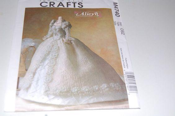 McCalls Pattern # M4740 - Fashion Barbie Doll Alicyn Wright Wedding Gown - NEW #McCalls