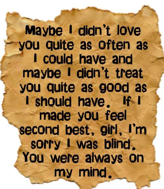 ☯☮ॐ American Hippie Classic Rock Lyrics ~ Willie Nelson - Always on My Mind