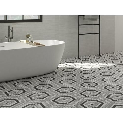Retro 1 In Hexagon Porcelain Mosaic 12 X 20 100566405 Floor And Decor