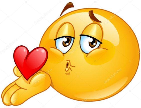 Hombre emoticon que sopla un beso