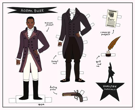 Aaron Burr paper doll #hamiltonthemusical #hamiltonpaperdolls