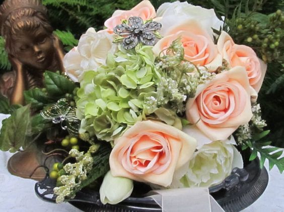 Hey, I found this really awesome Etsy listing at https://www.etsy.com/listing/161303228/romantic-silk-victorian-bridal-bouquet