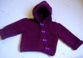 Resultado de imagem para casaquinho de trico com capuz infantil