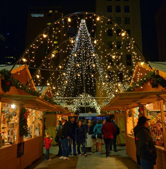 One of the best markets for finding very special gifts in Denver is the annual Christkindl Market, a German tradition that lights up Skyline Park every holiday season.