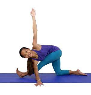 Parivrtta Ardha Hanumanasana Revolved Half Split Variation Monkey Pose Asana Yoga