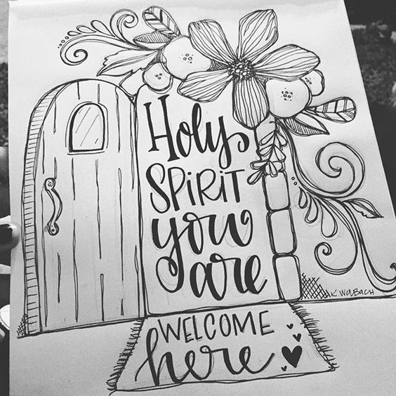 Working on some 'sketchy' stuff for a sweet friend of mine. Hoping she loves it ❤️ #holyspiritcome #artworship #faithart  #illustratedfaith