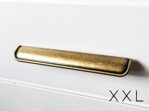 Hand Shape Antique Finish Handmade Brass Handle Drawer Cabinet Knob Table Pull 6
