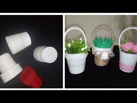 عندك أغطية قارورات بلاستيك أتحداكي ترميها بعد الفيديو كيفية اعادة تدوير البلاستيك فكرة مشروع مربح Youtube Planter Pots Planters