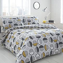 Home Collection Basics - Grey 'Harley' geometric spotted bedding set