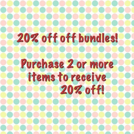 Save money today! Receive 20% off discount when you bundle 2 or more items. Let's save some cash  Other
