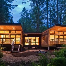 rustic exterior by Balance Associates Architects
