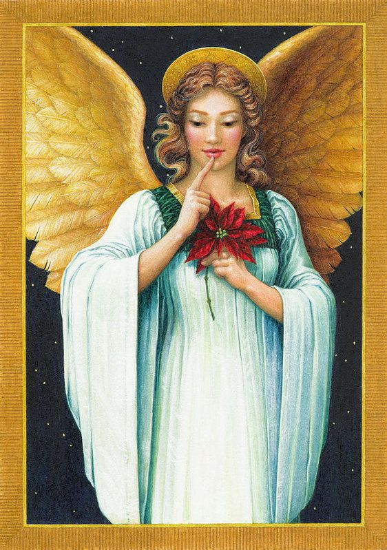 Angel Art Print featuring the painting Christmas Angel by Lynn Bywaters