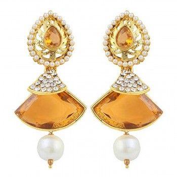 Peora Alloy Yellow Earrings – 3E24C
