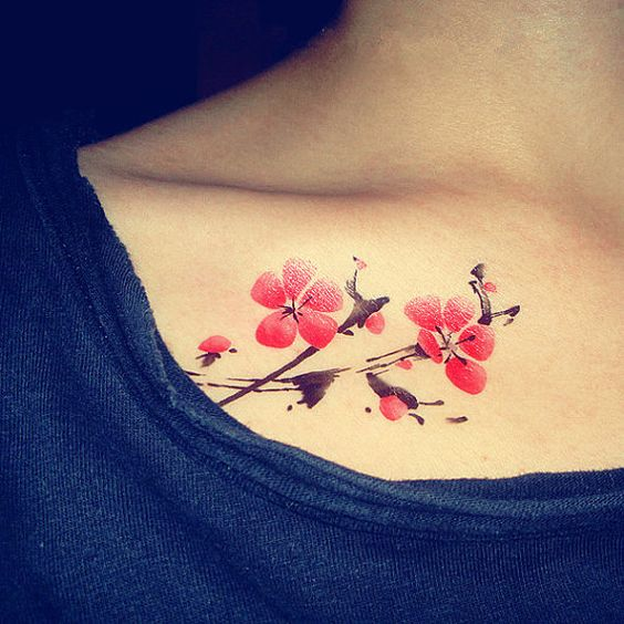 1pc Chinese Plum Blossom  temporary tattoo fake by MaomaoCreation, $4.99