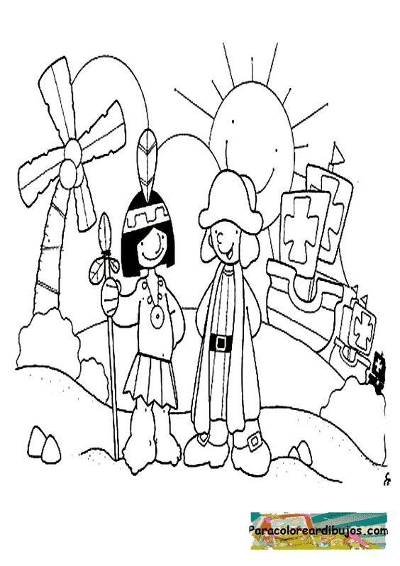 Dibujos Para Ninos Del Descubrimiento De America Dibujodedescubrimientodeamericaparacolor Cristobal Colon Para Ninos Dibujos Para Ninos Indigenas Para Colorear