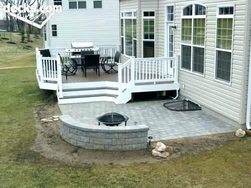 Low Patio Decks Small Outside Deck Ideas Backyard Deck Patio Ideas