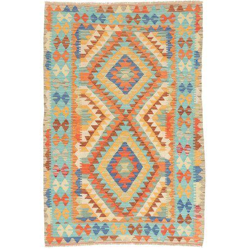 Alayah Handmade Kilim Wool Blue Orange Rug Latitude Vive In 2020 Orange Rugs Mint Rug Black Grey Rugs