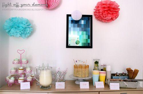 Pastel Birthday Sweet Table
