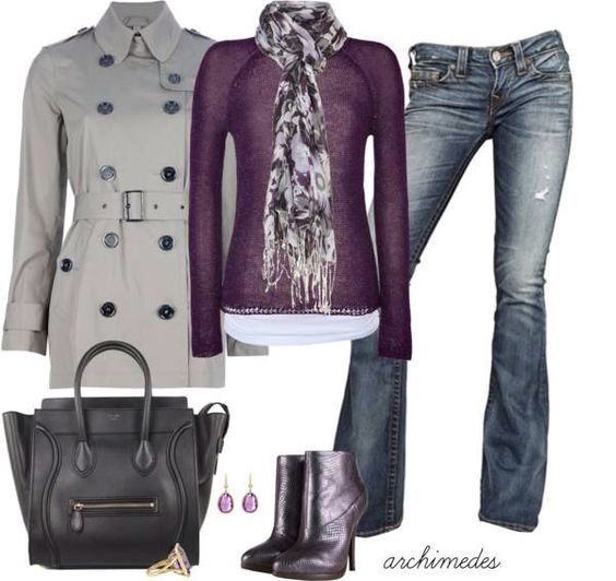 Color combination. Gray and Purple!