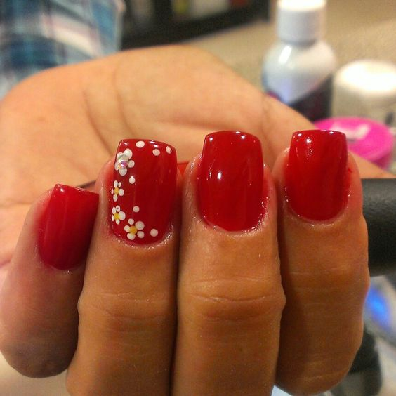 Red n daisys