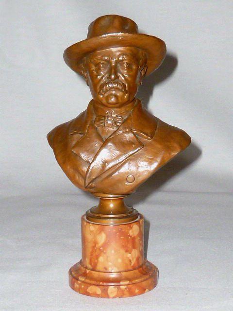 Alte Bronzefigur Bismarck signiert Kauba Figur Figurine Skulptur bronce Skulptur