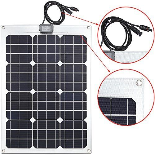 Lensun Semi Flexible Monocrystalline Solar Panel Kit With 10a Pwm Solar Charge Controller And Two 5m Cables With Mc4 Connetors For 12v Charge Battery Lensun 1