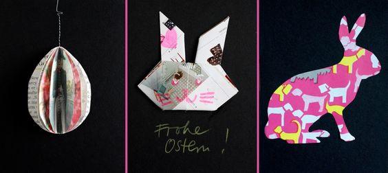 Osterkarten basteln mit Kindern: Die Hasen sind los!   SoLebIch.de