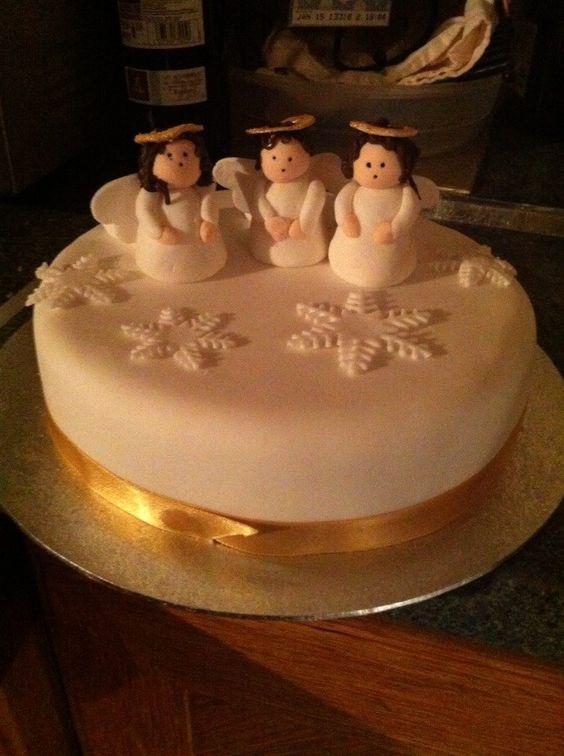 Angel Christmas cake