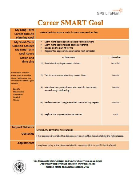 write professional goal statement