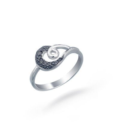 Another great find on #zulily! Black Diamond & Sterling Silver Swirl Ring #zulilyfinds