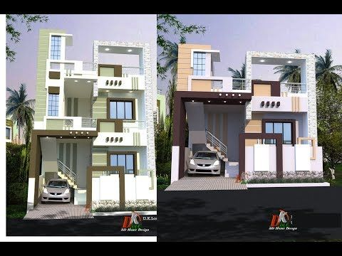 23 Ft Wide Front Elevations Youtube In 2020 House Elevation Front Elevation House