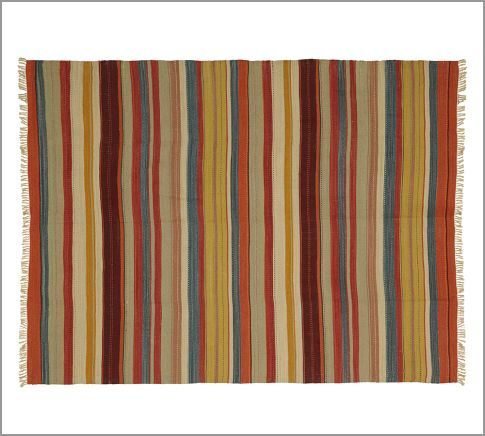 Rustic stripe recycled yarn indoor outdoor rug pottery for Pottery barn carpet runners