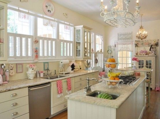 Cool Vintage Candy Like Kitchen Design With Retro Details:
