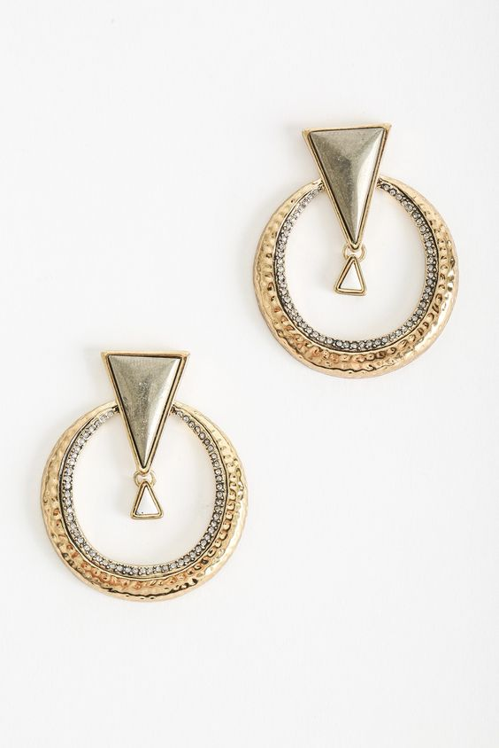 House Of Harlow House of Harlow Hymn To Selene Statement Earring in Metallic Gold
