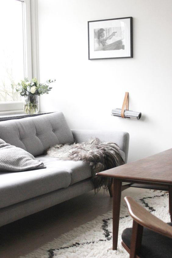 scandinavian living room, sofakompagniet, muuto, west elm rug via http://www.scandinavianlovesong.com/